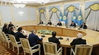 Встреча глав делегаций государств – участников Содружества Независимых Государств с Президентом Казахстана Нурсултаном Назарбаевым