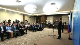 Пресс-конференция Дмитрия Медведева по завершении заседания Совета глав правительств государств – членов ШОС
