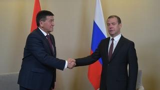 Встреча с Премьер-министром Киргизии Сооронбаем Жээнбековым