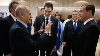 С президентом FINA Хулио Маглионе
