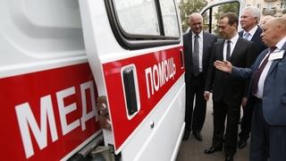 Передача Республике Бурятия новых машин скорой медицинской помощи