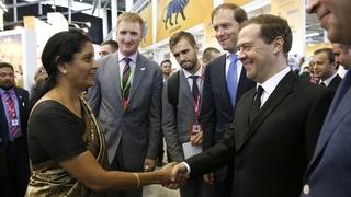 Международная промышленная выставка «ИННОПРОМ-2016». С государственным министром торговли и промышленности Индии Нирмалой Ситхараман