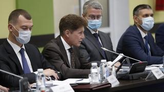 Губернатор Приморского края Олег Кожемяко на заседании Правительственной комиссии по социально-экономическому развитию Дальнего Востока