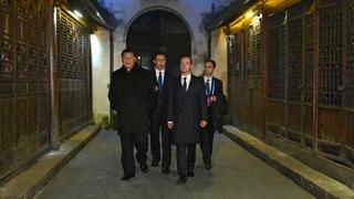 С Председателем КНР Си Цзиньпин после российско-китайских переговоров в Учжэне