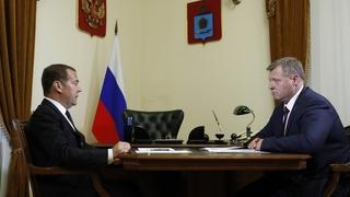 Встреча с временно исполняющим обязанности губернатора Астраханской области Игорем Бабушкиным