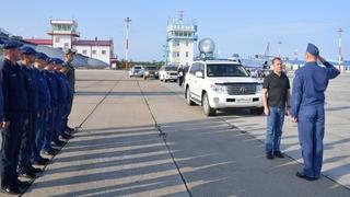 Итуруп, Сахалинская область. С военнослужащими подразделения ВКС России, базирующегося на острове