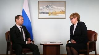 Встреча с временно исполняющей обязанности губернатора Забайкальского края Натальей Ждановой