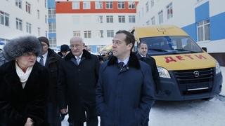 Посещение строящейся школы в Оренбурге