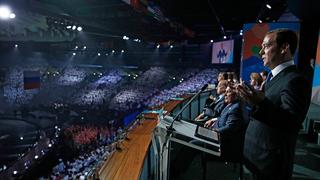 Выступление Дмитрия Медведева на церемонии закрытия XVI чемпионата мира по водным видам спорта