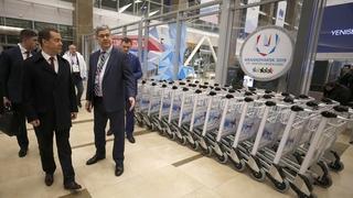 Осмотр международного терминала Красноярского аэропорта Емельяново