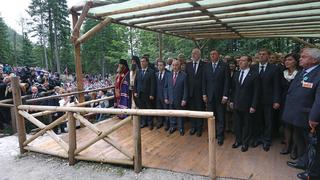 Мемориальная церемония у Русской часовни, посвящённая памяти российских войнов, погибших в годы Первой мировой войны