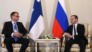 Беседа Дмитрия Медведева с Премьер-министром Финляндии Юхой Сипилей