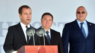 Выступление Дмитрия Медведева на церемонии запуска комплекса обжиговой машины Михайловского горно-обогатительного комбината