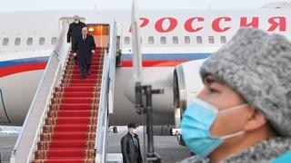 Прибытие Михаила Мишустина в Алма-Ату (Республика Казахстан)