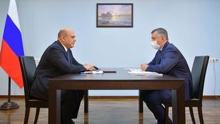 Беседа Михаила Мишустина с губернатором Иркутской области Игорем Кобзевым