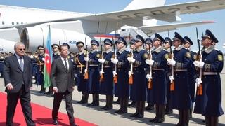 Визит Дмитрия Медведева в Азербайджан. Церемония официальной встречи