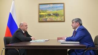 Беседа Михаила Мишустина с Главой Кабардино-Балкарской Республики Казбеком Коковым