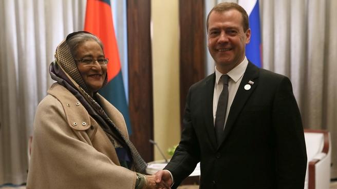 Встреча с Премьер-министром Народной Республики Бангладеш Шейх Хасиной