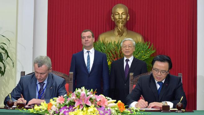Подписание Протокола о сотрудничестве между «Единой Россией» и компартией Вьетнама