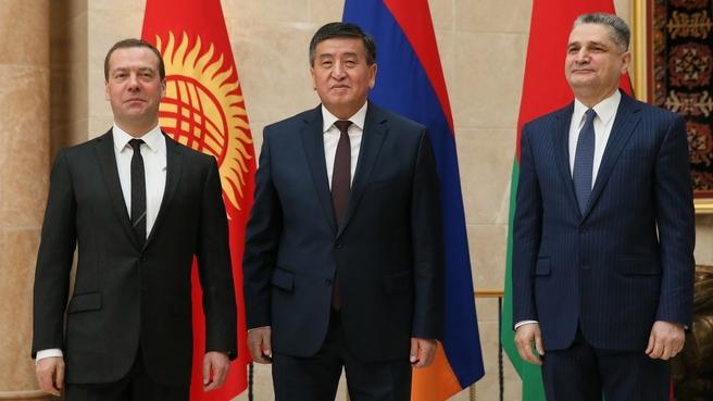 C Премьер-министром Киргизской Республики Сооронбаем Жээнбековым и Председателем коллегии Евразийской экономической комиссии Тиграном Саркисяном