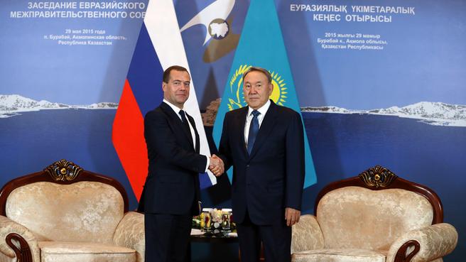 Беседа с Президентом Казахстана Нурсултаном Назарбаевым