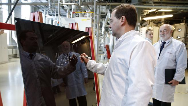 Посещение завода по производству фотоэлектрических модулей в Новочебоксарске