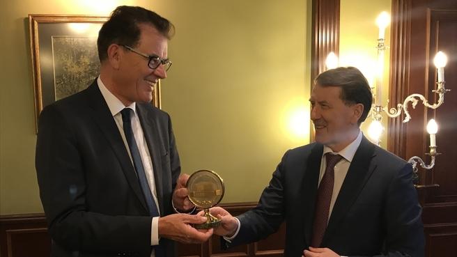 Встреча Алексея Гордеева с Министром экономического сотрудничества и развития ФРГ Гердом Мюллером