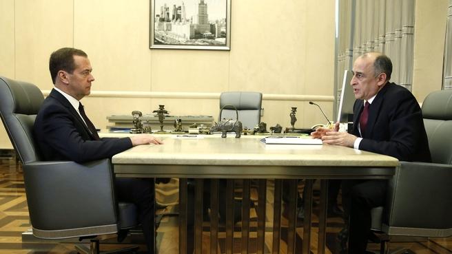 Встреча с главой Кабардино-Балкарской Республики Юрием Коковым