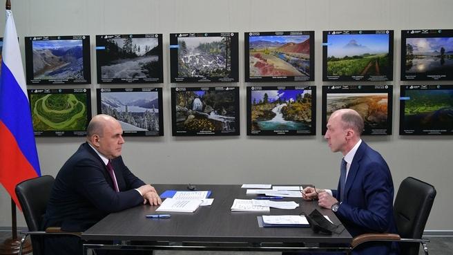 Беседа с главой Республики Алтай Олегом Хорохординым