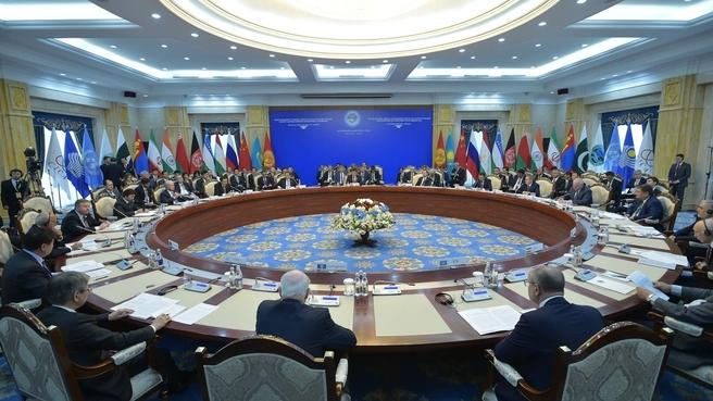 Заседание Совета глав правительств государств – членов ШОС в широком составе