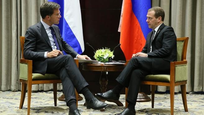 Встреча с Премьер-министром Королевства Нидерланды Марком Рютте