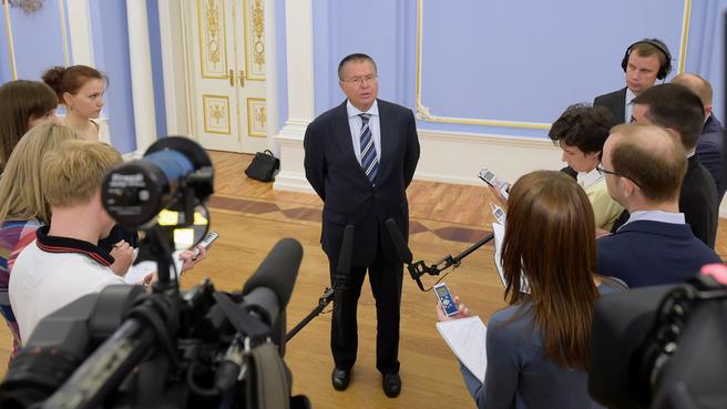 Брифинг Алексея Улюкаева по завершении совещания о предельном уровне неналоговых платежей предпринимателей и организаций