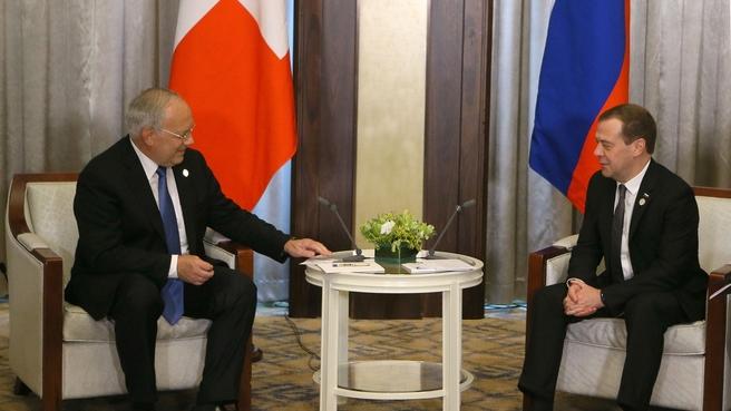 Встреча с Президентом Швейцарской Конфедерации Йоханном Шнайдер-Амманом