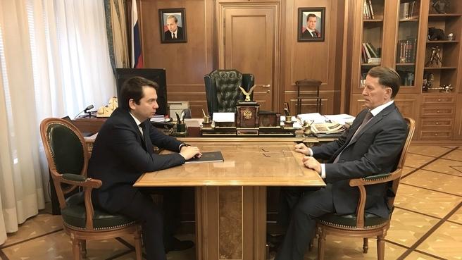 Встреча Алексея Гордеева с губернатором Мурманской области Андреем Чибисом