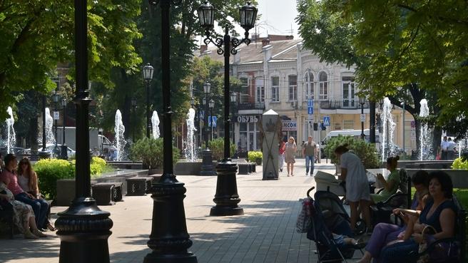 Сквер «Дружба народов» в Краснодаре