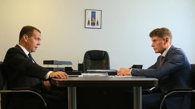 Встреча с губернатором Сахалинской области Олегом Кожемяко