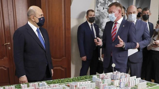 Михаил Мишустин ознакомился с презентацией проектов развития Курска