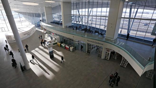 Новый пассажирский терминал международного аэропорта «Курумоч» (общая зона терминала)