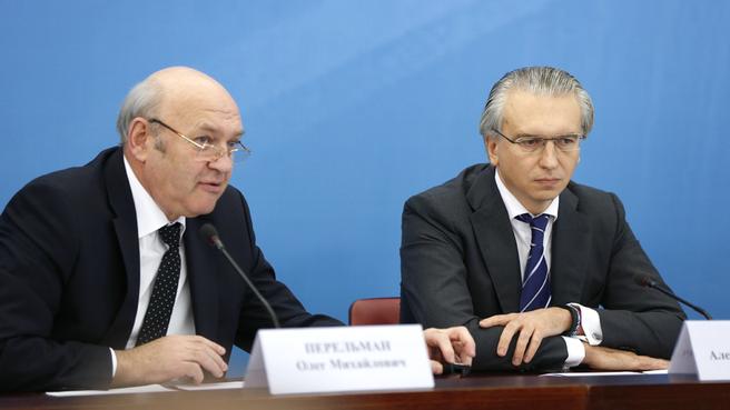 Генеральный директор ЗАО «Новомет-Пермь» Олег Перельман и генеральный директор ОАО «Газпромнефть» Александр Дюков