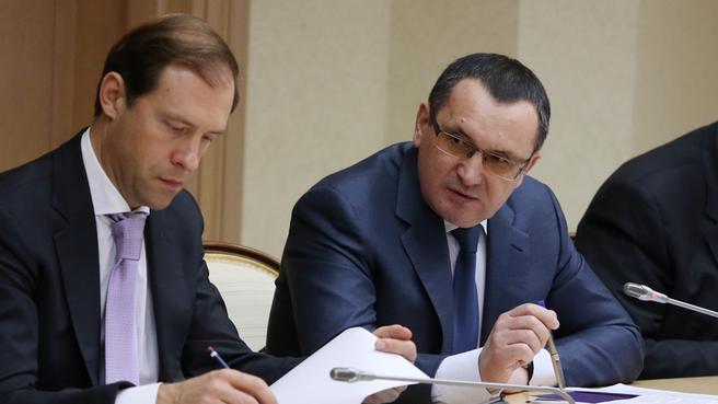 Министр промышленности и торговли Денис Мантуров и Министр сельского хозяйства Николай Фёдоров