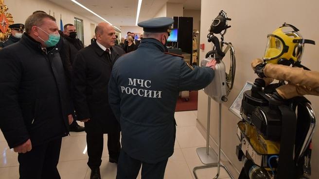 Михаил Мишустин посетил Национальный центр управления в кризисных ситуациях МЧС России