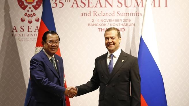 Встреча Дмитрия Медведева с Премьер-министром Камбоджи Хун Сеном