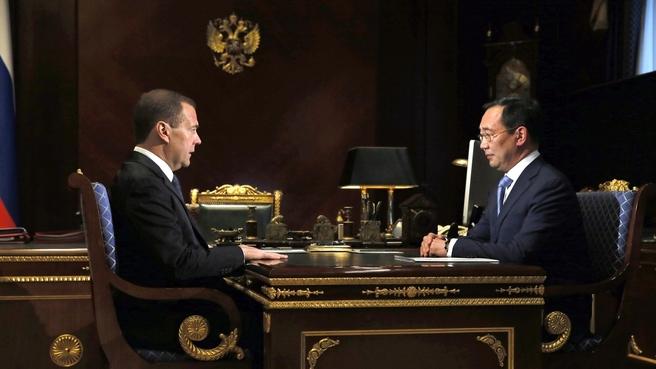 Встреча с главой Республики Саха (Якутия) Айсеном Николаевым