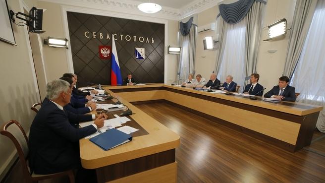 Совещание о ходе реализации национальных проектов на территории Республики Крым и Севастополя в части здравоохранения, образования и культуры