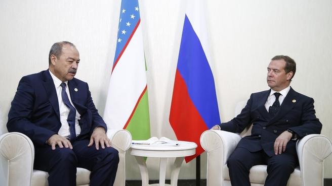 Встреча с Премьер-министром Республики Узбекистан Абдуллой Ариповым