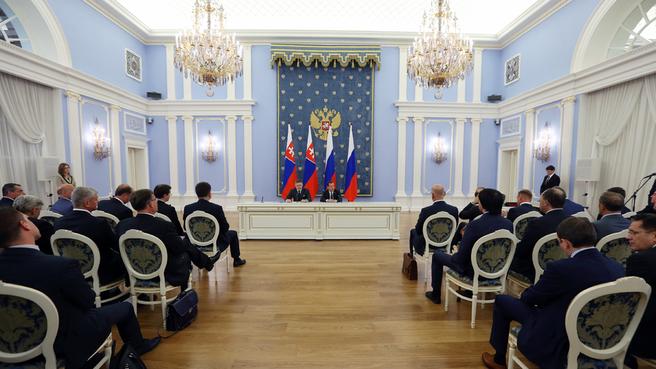 Пресс-конференция по итогам российско-словацких переговоров