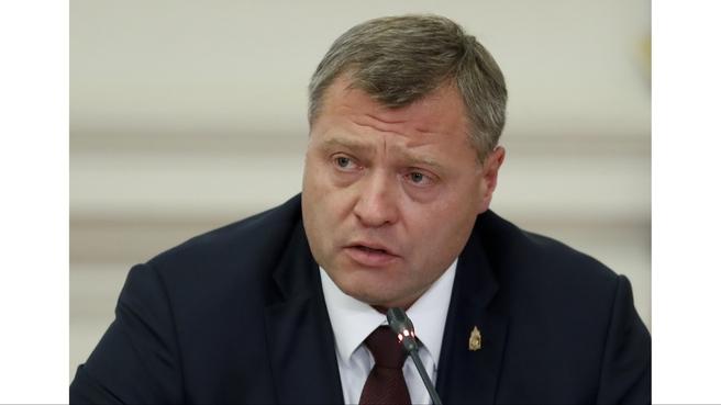Сообщение временно исполняющего обязанности губернатора Астраханской области Игоря Бабушкина на совещании о развитии водохозяйственного комплекса в бассейне реки Волги