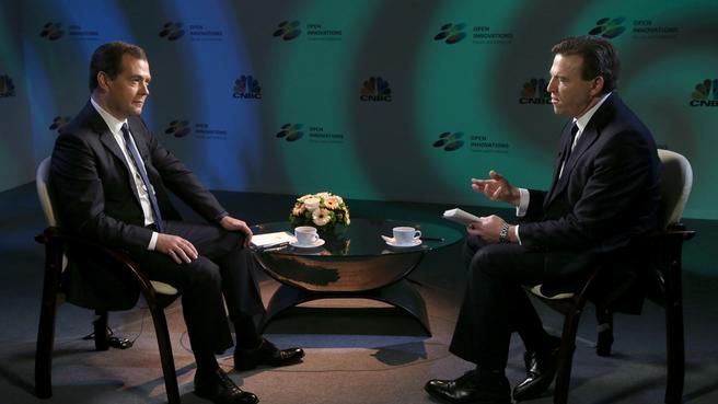 Интервью телеканалу CNBC