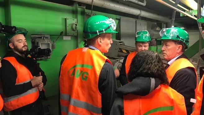 Посещение завода по термической переработке отходов в энергию AVG Köln