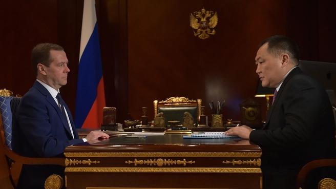 Встреча с главой – председателем правительства Республики Тыва Шолбаном Кара-оолом